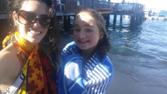 Primeiro dia de praia australiana durante o Intercâmbio