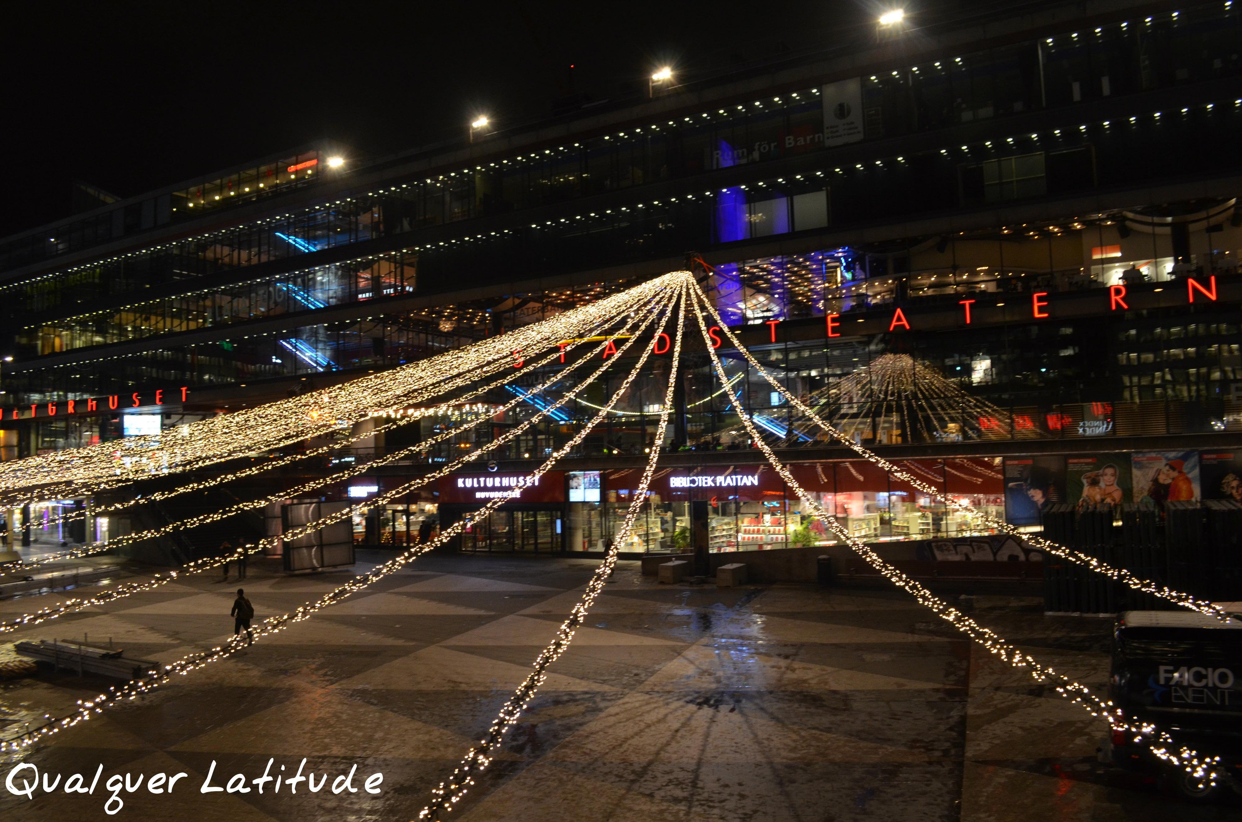 Luzes de natal na Suécia