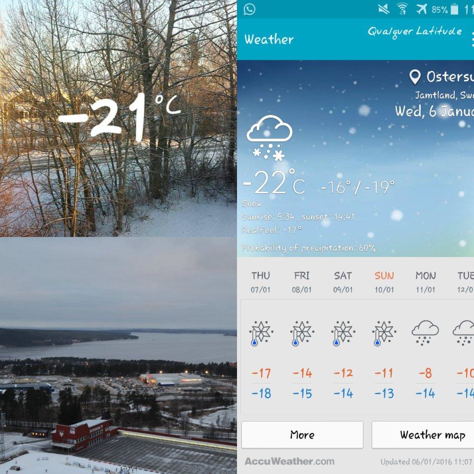 Temperatura de neve